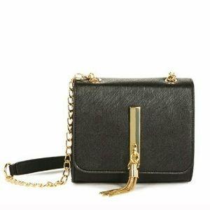 JustFab Zander Black Classy Tassel Shoulder Bag